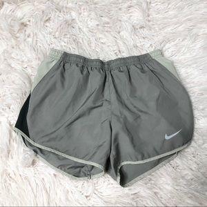 Nike Dri Fit Tempo Shorts Gray Black Size Small